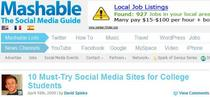 Mashable mention cv