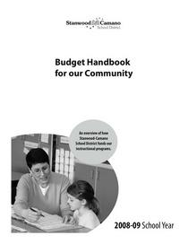 Stanwood camano 08 09 budget guide cv