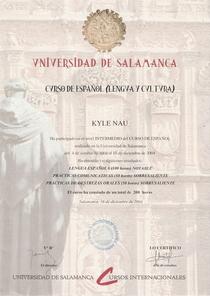Salamanca diploma cv