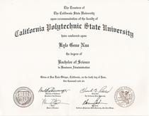 Cal poly diploma cv