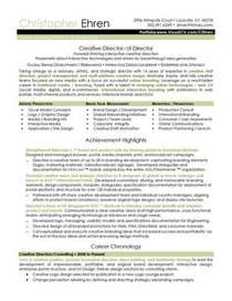 Christopher ehren creative director resume page 1 cv
