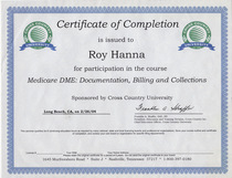 Cross country university medicare dme documentation billing collections cv