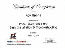 Pride silver star lifts basic installation and troubleshooting cv