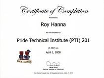 Pride technical institute 201 cv
