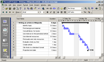 Screengrab   microsoft project 9.0.2000.0224    simple gantt chart   cv