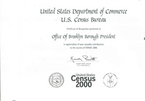 U.s. department of commerce bureau of the census census 2000 certificate of recognition cv