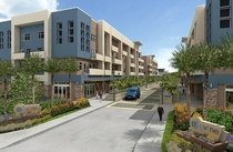 Rendering of mixed use down the street cv