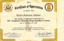 K 9 certificate cv