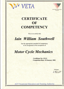 Certificate of competency cv