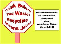 Think before you waste  logo cv