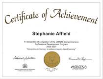 Emints certificate cv