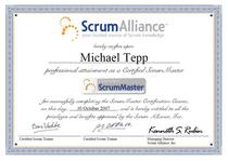 Certified scrum master cv
