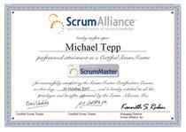Certified scrum master cv