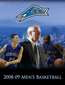 2008 09 unc asheville men s basketball media guide cover cv