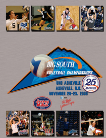 2008 big south volleyball tournament cover cv