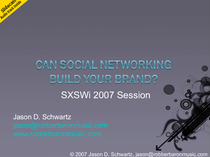 Can social networking build your brand  1 cv