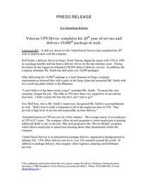 Press release cv