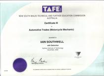 Trade certificate cv