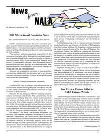 News from nala spring 2001 cv