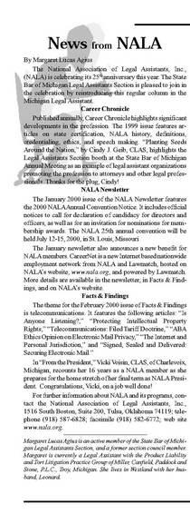 News from nala spring 2000 cv