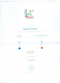 Diagonal thinking certificate cv