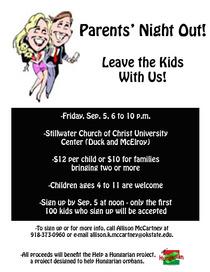 Parentsnightoutflier cv