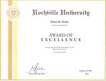 Award of excellence cv
