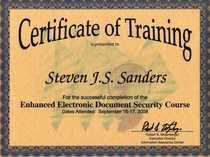 Enhanced electronic document security004 cv