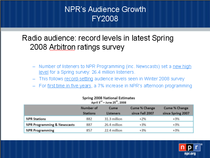 Npr s audience growth cv