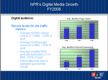 Npr s digital growth cv