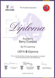 Uefa b cv