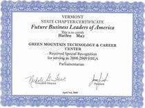 Gmtcc fbla certificate cv