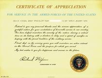 Presidentcertofappreciation cv