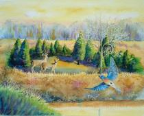 Deer bluebird 300dpi 4x3.3 cv