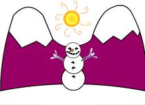 Snowman scene cv