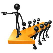 3d team leadership arrow concept cv