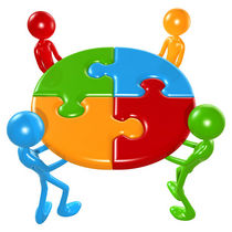 600px working together teamwork puzzle concept cv