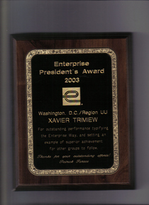 Presidents award enterprise cv