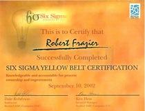 Six sigma yb certification cv