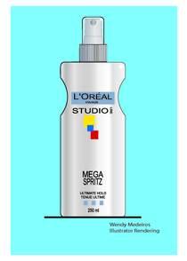 Hairspray bottle cv
