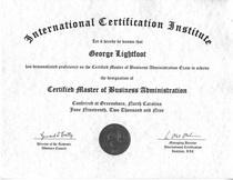 Cmba certificate cv