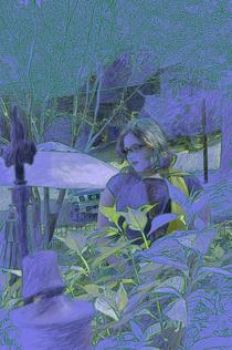 Hannah in the july garden cv