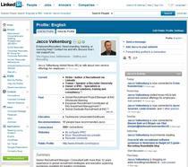 Linkedin profile jacco cv