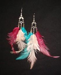 Feather earrings cv