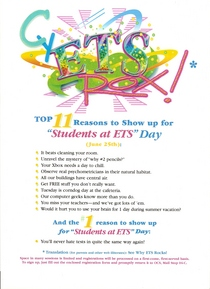 Kids to work flyer cv