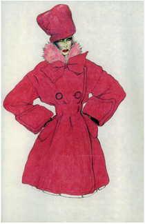 Hot pink dinner coat cv