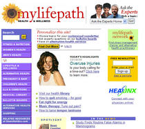 Mylifepath home page cv