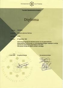 Diploma uvt cv
