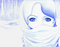 Eyes blue pastel  cv