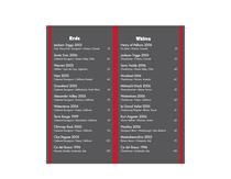 Wine list inside   back cv